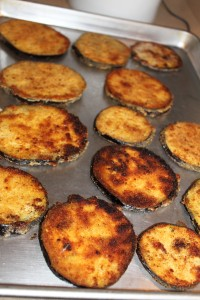 breaded and fried eggplant